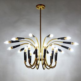 Lighting For Clothing Stores Australia - Modern LED 16 18 24 30 Heads chandelier Metal Lamps For clothing store cafe bedroom living room restaurant Home Lighting G262