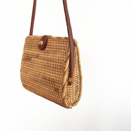 Bohemian Bags Australia - Rattan Bags for Women 2019 Bali Bohemian Fashion Beach Shoulder Bags Woman Straw Handbag Ladies Flap