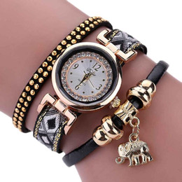 wrap watch wholesale 2019 - 8 2017Newly Designed Feather Weave Wrap Around Bracelet Watch Crystal Synthetic Fashion Chain Watch LEVERT DROPSHIP328 d