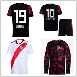 Discount river plate jerseys - 19 20 RIVER PLATE Home Long sleeve soccer jersey MARTÍNEZ BALANTA CAVENAGHI SOSA 2019 River Plate Kids Football shirt