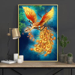 $enCountryForm.capitalKeyWord Australia - Meian Cross Stitch Embroidery Kits 14CT Phoenix Animal Cotton Thread Painting DIY Needlework DMC New Year Home Decor VS-0011