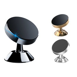 Discount gold universal - Aluminum Alloy Air Vent Strong Magnetic Holder Car Mount Dashboard Mount 360 Degree Rotation Stand Phone Holder Phone Br