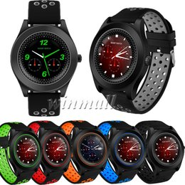 Bluetooth Smart Watch Sim Australia - 50pcs TF8 Smart Watch Round Screen Camera Sports Strap Fitness Support TF Card SIM Card Bluetooth Phone Smartwatch