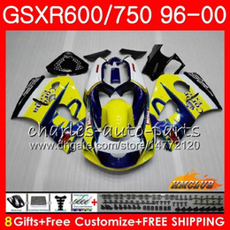 srad fairing yellow NZ - Body For SUZUKI SRAD GSXR 750 600 GSXR-600 GSXR750 Yellow CORONA 96 97 98 99 00 1HC.15 GSX-R750 GSXR600 1996 1997 1998 1999 2000 Fairing kit