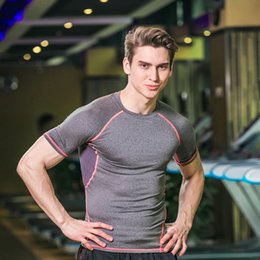 $enCountryForm.capitalKeyWord Australia - New Men Short Sleeve fitness Basketball Running Sports T Shirt Men Thermal Muscle Gym Bodybuilding Compression Tights
