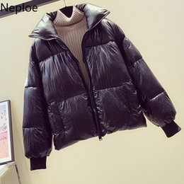 women korean winter parka coat Australia - Neploe 2019 Long Sleeve Zipper Snow Coat Women Casual Stand Neck Winter Jackets Coats Fashion Korean Warm Parkas Feminina 54493 SH190914