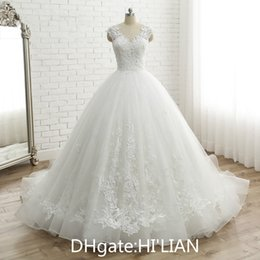 $enCountryForm.capitalKeyWord Australia - Married vestido de noiva Women's Cap Sleeve Vintage Lace Bridal Dress Custom Made Princess Lace Wedding Dress appliques Formal Occasion
