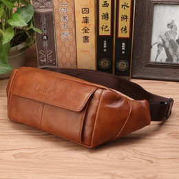 $enCountryForm.capitalKeyWord NZ - Genuine Leather Loop Belt Bag Hip Bum Fanny Chest Pack Multi-Purpose Male Cell Phone Case Pocket Pouch Leisure Men Waist Bags