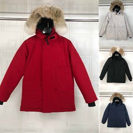 hooded parka overcoat long NZ - Top Down Parkas Jacket Men White Duck Down Coat Men's Thick Snow Parka Overcoat Windbreaker Long Fur Hooded Warm Parkas