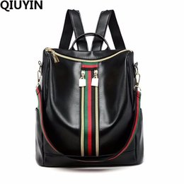 Red Hair Fashion UK - QIUYIN Large Capacity FASHION Quality Leather Anti-thief Women Backpack Hair Ball School Bag for Teenager Male Travel Bags