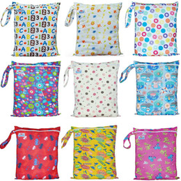 zippers for bags Australia - Wholesale-2016 Newest Patterns Zipper Diaper Bag Baby Wet Bag For Dirty Diapers 70 Pieces A Lot