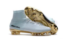 $enCountryForm.capitalKeyWord Australia - White Gold CR7 Soccer Cleats Mercurial Superfly FG V SX Neymar Kids Soccer Shoes High Ankle Cristiano Ronaldo Womens Football Boots xs02