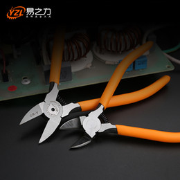 wire snips NZ - CR-V Plastic pliers 5 6inch Jewelry Electrical Wire Cable Cutters Cutting Side Snips Hand Tools Electrician tool