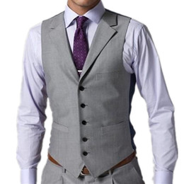 $enCountryForm.capitalKeyWord Australia - 2019 Business Groom Vest Slim Casual Fit Groomsmens Best Man Formal Vest Suit Gentleman Cheap Custom Made Size Wedding Prom Dinner Waistcoat