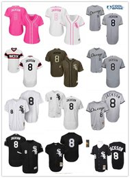 11905ec9b 2018 top Chicago White Sox Jerseys  8 Bo Jackson Jerseys men WOMEN YOUTH Men s  Baseball Jersey Majestic Stitched Professional sportswear