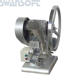 Chinese  SWANSOFT TDP-1.5 Single Punching Milk Slice Calcium Tablet Making H manufacturers