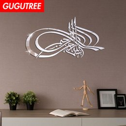 $enCountryForm.capitalKeyWord Australia - Decorate Home 3D Arabic letter mirror art wall sticker decoration Decals mural painting Removable Decor Wallpaper G-212
