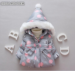 Warm Winter outfits online shopping - Winter Baby Jackets Hooded Warm Toddler Baby Girls Outerwear Faux Fur Girls Clothing Infant Outfits Clothes