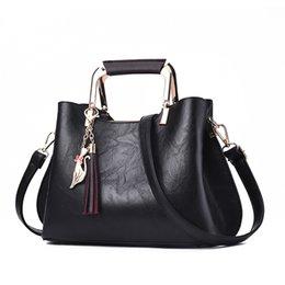 $enCountryForm.capitalKeyWord UK - Women Handbags Luxury Designer 2019 Ladies Pu Leather Handbag Messenger New Shoulder Bags Korean Style Tassel Totes Bags Female J190709