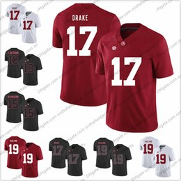 e3b75e5db Alabama Crimson Tide  15 Ronnie Harrison 17 Kenyan Drake 18 Cooper Bateman 19  Reggie Ragland Stitched NCAA College Football Jerseys S-3XL