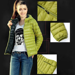 browning goose down jackets 2021 - Women Down Jacket Ultra-light Plus Size 2019 Autumn Winter Slim Short Hooded Warm White Duck Down Coat Women's Outerwear