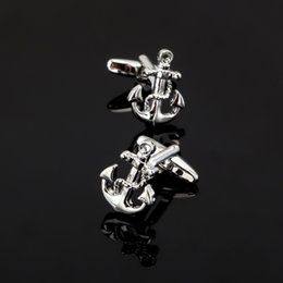 Pirate Suits Australia - XK328 Sea Series Rudder Anchor Pirate Ship Skull Cuff Links Wedding Party Gift Cufflinks For Mens French Suit Shirt Button
