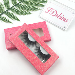 $enCountryForm.capitalKeyWord Australia - New Lashes Style 25 mm 3D Mink Eyelashes with Pink Glitter Rectangle Box Custom Packaging Available FDshine