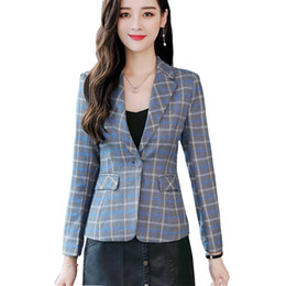 Discount ladies wear blazers - FANMUER 2018 Soft Cotton Jacket High Quality Fashion Women Blazer Casual Wear Long Sleeve Coat Lady with Pocket blazer f