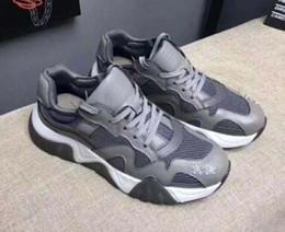 $enCountryForm.capitalKeyWord Australia - Latest Chain Reaction 19FW men sneakers mesh stitching leather casual shoes luxury designer men Squalo platform sports logo casual shoes V1