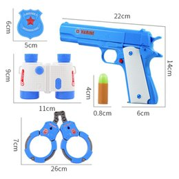 toy mini guns UK - Bullet Pistol Simulation Interaction Game Toy Bullet Pistol Outdoor Activity Game Toy Gun Set Soft#qww