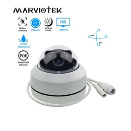 Mini Camera Zoom Outdoor Australia - 1080P HD PTZ IP Camera Outdoor Waterproof home security Mini Speed Dome Camera IP Onvif 3X Zoom P2P IR Night Vision POE Optional