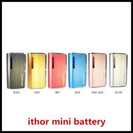 Chinese  ZTCSMOKE ITHOR Mini Box Mod 400mAh Preheat VV Battery Vape Mods Ecig For 510 Thick Oil Vaporizer Cartridges 100% Original manufacturers