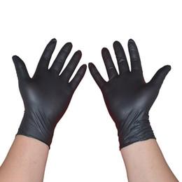 Venta al por mayor de Guantes desechables de látex Negro 100PCS lavavajillas / cocina / Trabajo / caucho / Jardín Guantes universales para mano izquierda y derecha