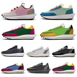 Green campinG online shopping - 2020 cheap sacai ldv ld waffle men women running shoes Black White Grey Pine Green Gusto Varsity Blue mens trainers sports sneakers