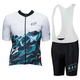 men short suit set UK - Men cycling Jersey set MAAP Team summer breathable bike shirt bib shorts suit Road Bicycle Outfits Short Sleeve Outdoor Sportswear Y070303