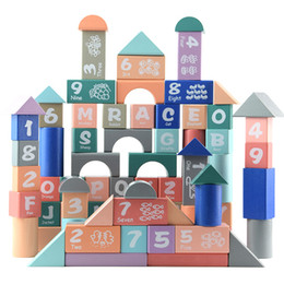 $enCountryForm.capitalKeyWord Australia - 82 macaron alphanumeric blocks for children puzzle early learning shape cognition toy wood learning