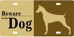 Dog Plates Australia - Bernie Gresham License Plate Cover Beware of Dog License Plates Auto Car Tag - Metal for Front of Car License Plate Covers