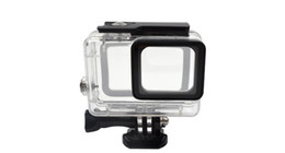 Hero Diving Housing Australia - Gopro accessopries 45m Underwater Diving Waterproof Protective Case Shell Cover Housing Skeleton frame for Gopro hero 5 6 Acrylic Clear