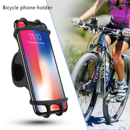 Brackets material online shopping - 2019 Bicycle cellphone silicone bracket bicycle navigation shatter resistant mobile phone bracket for inch soft plastic material