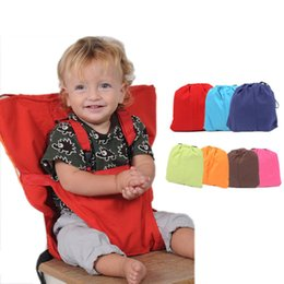 infant feeding chairs UK - Baby Chair Portable Infant Seat Dining Lunch Chair Seat Safety Belt Feeding High Chair Harness