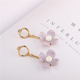 $enCountryForm.capitalKeyWord Canada - Girl Heart Earrings Japanese And Korean Fashion Super Fairy Three-Dimensional Large Flower Dress Earrings Pendant Web Celebrity Acrylic Earr