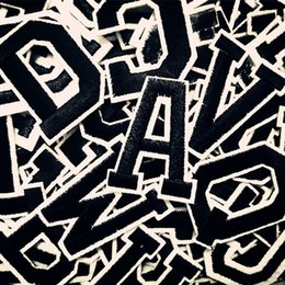 $enCountryForm.capitalKeyWord Australia - 100 PC English Alphabet Letter Embroidery Patches DIY hot Melt Adhesive Sew On Brand Cloth Accessories stickers Applique name patches A-M