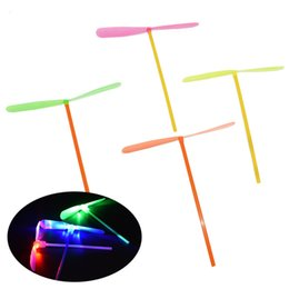 $enCountryForm.capitalKeyWord UK - Fashion Led Lighted Flying Bamboo Dragonfly Helicopter Boomerang Frisbee Flash Children Kids Boys Toys Christmas gift