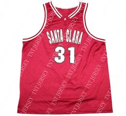 1858d044b Cheap custom Santa Clara Broncos Basketball Jersey Scott Borchart  31  Stitched Customize any number name MEN WOMEN YOUTH XS-5XL