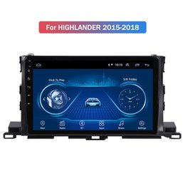 toyota highlander radio gps UK - Car Radio for TOYOTA HIGHLANDER 2015-2018 Android 10 GPS Navigation Bluetooth Touch Screen Car Audio Stere Multimedia