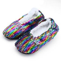 $enCountryForm.capitalKeyWord Australia - SAGACE Winter Warm Soft Cotton Plush Shoes Women Sequins Home Shoes High Quality Ladies Round Toe Ankle Casual Short Boots