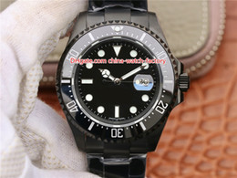 44mm Ceramic Bezel Australia - 3 Style Hot Selling Best Quality 44mm Sea-Dweller 116660 Black PVD Case Ceramic Bezel Top CAL.2836 Movement Automatic Mens Watch Watches