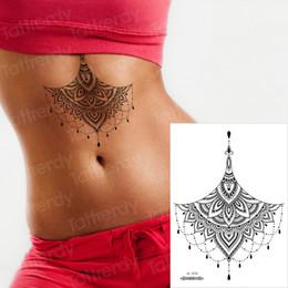 $enCountryForm.capitalKeyWord Australia - mehndi henna stickers bikini tattoo breast mandala lotus temporary tattoo sticker black lace fake and body art sexy arab