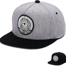 EyE hats online shopping - 1pc Colors Unisex Premier Illuminati Eye Baseball Cap Snapback Fashion Casquette Adjustable Women Men Hiphop Hats Cool Sunhat