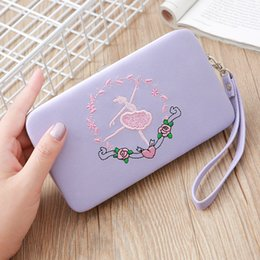 $enCountryForm.capitalKeyWord Australia - Ladies Lunch Box Wallet Phone Bag Long Section 3 Fold Clutch Bag Fashion Multi-Function Cat Embroidered Coin Purse